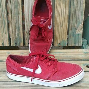 Nuke Stefan Janoski Red Low Cut Sneakers
